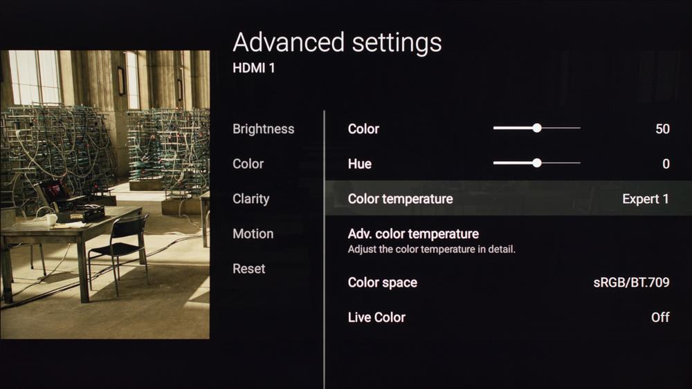 Sony X850D Calibration Settings 3