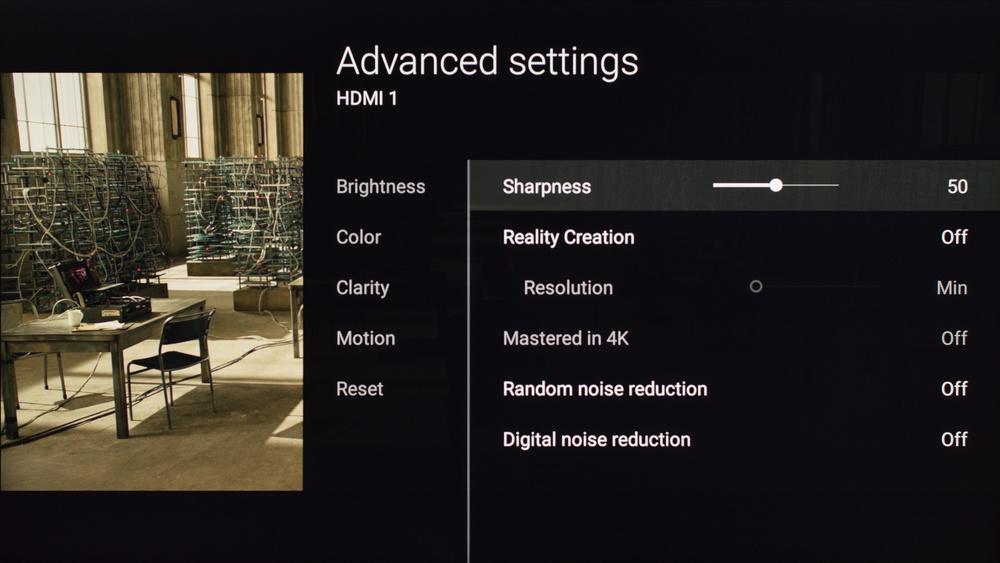 Sony X850D Calibration Settings 4