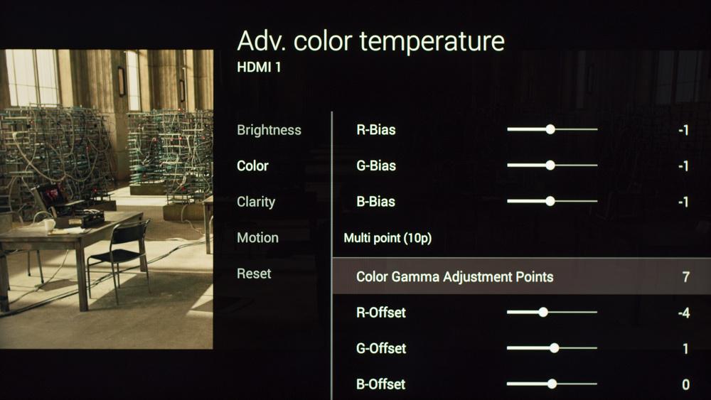 Sony W800C Calibration Settings 15