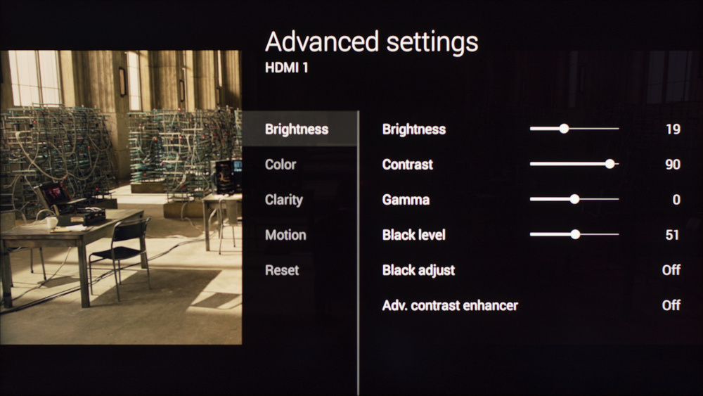 Sony W800C Calibration Settings 2