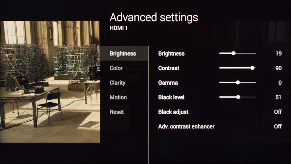 Sony W800C Calibration Settings 2