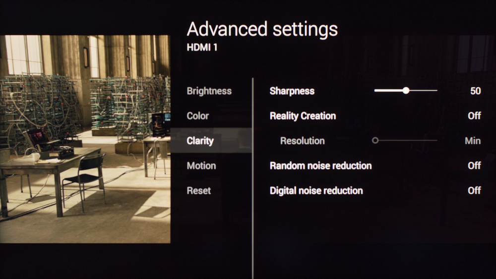 Sony W800C Calibration Settings 3