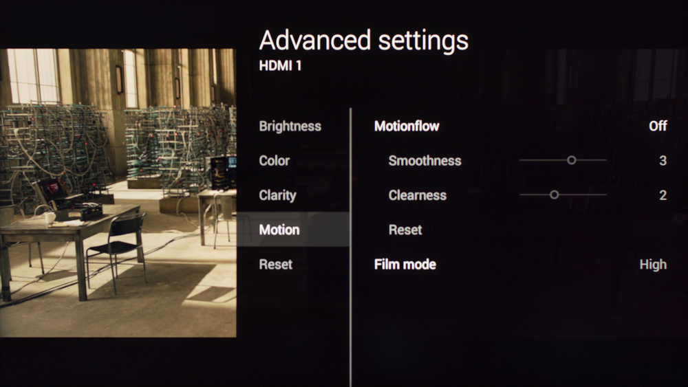 Sony W800C Calibration Settings 4