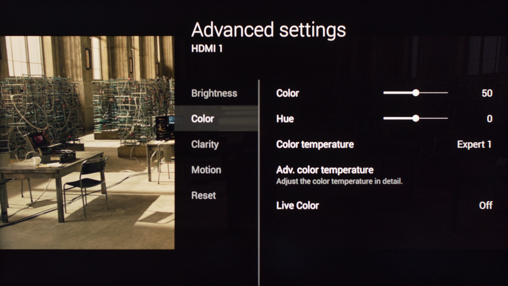 Sony W800C Calibration Settings 5
