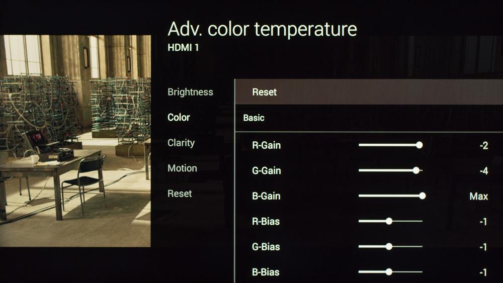 Sony W800C Calibration Settings 9
