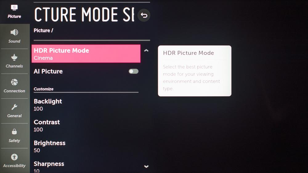 LG SM9000 Calibration Settings 75