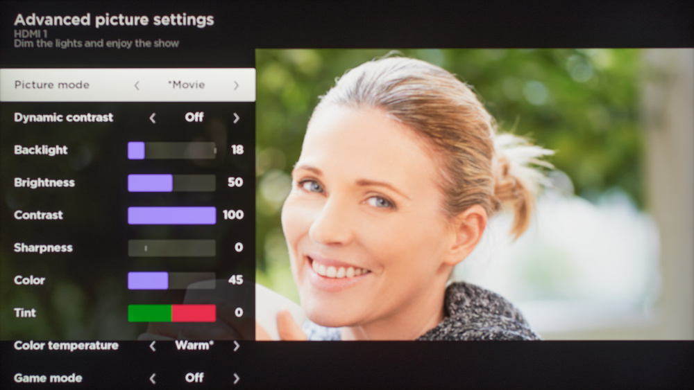 TCL C807 Calibration Settings 67