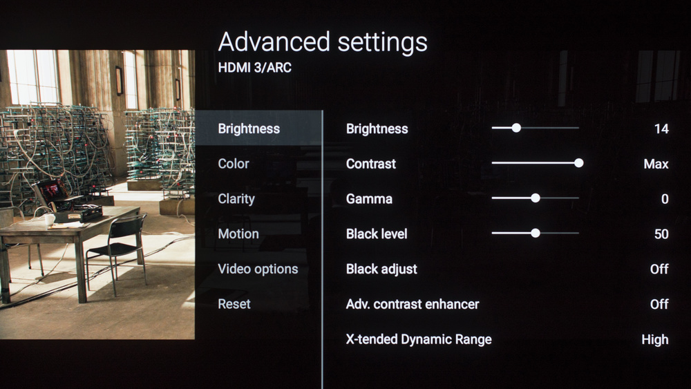 Sony A1E OLED Calibration Settings 4