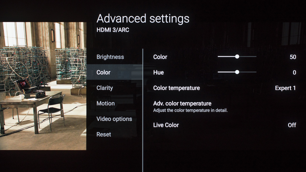 Sony A1E OLED Calibration Settings 5
