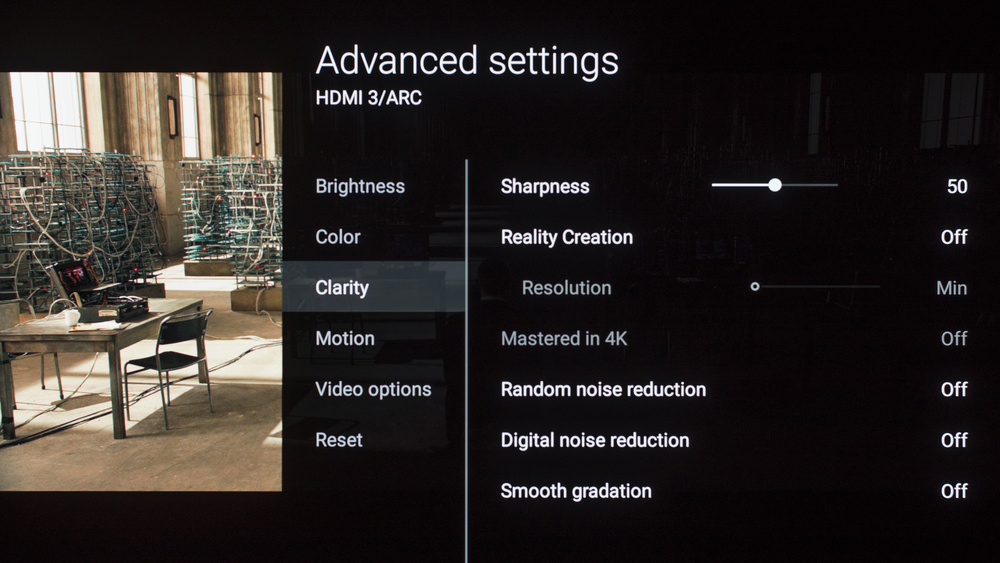 Sony A1E OLED Calibration Settings 6