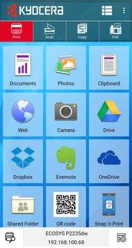 Kyocera ECOSYS P2235dw App Printscreen