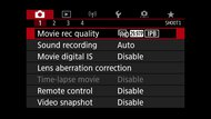 Canon EOS 90D Screen Menu Picture