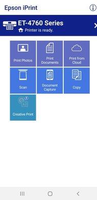 Epson EcoTank ET-4760 App Printscreen