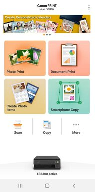 Canon PIXMA TS6320 App Printscreen