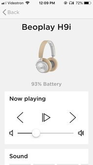 Bang & Olufsen Beoplay H9i Wireless App Picture