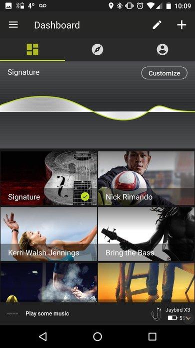 Jaybird X3 App Picture