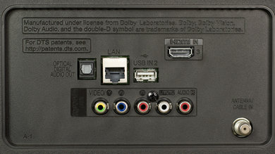 LG UJ6300 Rear Inputs Picture