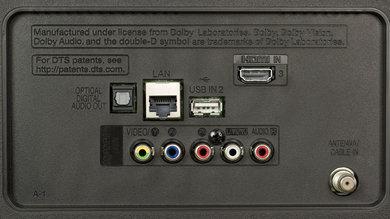 LG UJ6300 Rear Inputs Picture