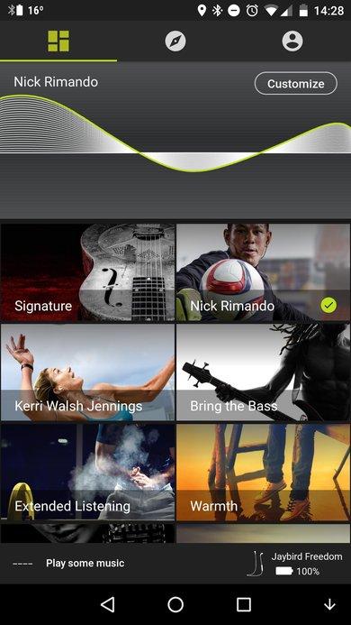Jaybird Freedom App Picture