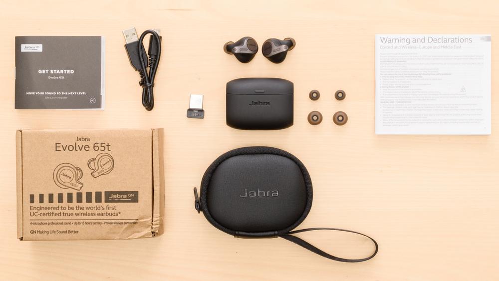 Jabra Evolve 65t Truly Wireless In the box Picture