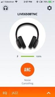 JBL Live 650 BTNC Wireless App Picture