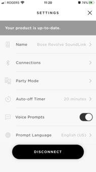 Bose SoundLink Revolve App Picture