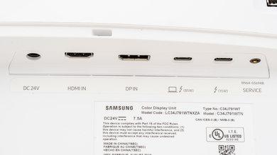 Samsung C34J791/CJ791 Inputs 1