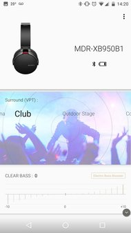 Sony MDR-XB950B1 Wireless App Picture
