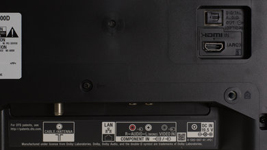 Sony W600D Rear Inputs Picture
