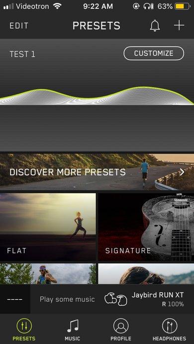 Jaybird Run XT Truly Wireless App Picture