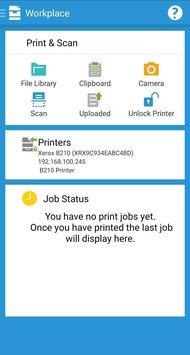 Xerox B210/DNI App Printscreen
