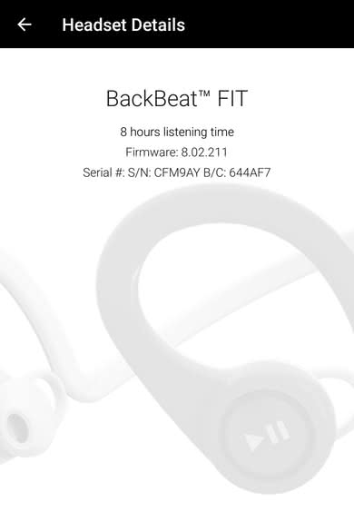Plantronics BackBeat Fit Wireless App Picture