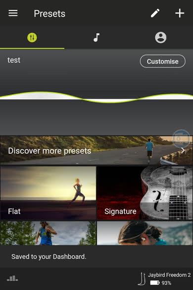 Jaybird Freedom 2 Wireless 2017 App Picture