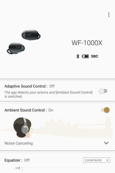 Sony WF-1000X App Picture