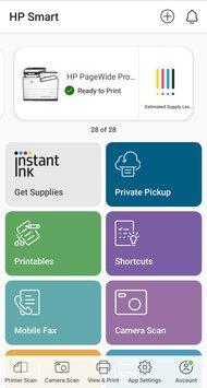 HP PageWide Pro 577dw App Printscreen