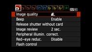 Canon EOS Rebel T100 / EOS 4000D Screen Menu Picture