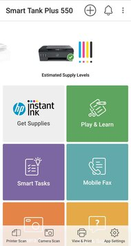 HP Smart Tank Plus 551 App Printscreen