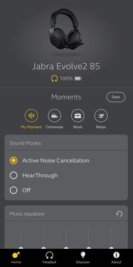 Jabra Evolve2 85 Wireless App Picture