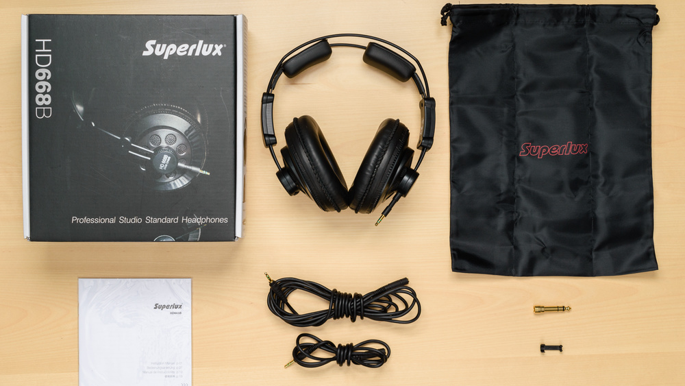 Superlux HD 668B In the box Picture