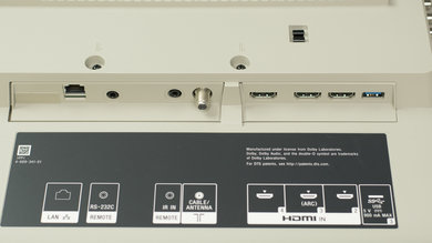 Sony X940E Rear Inputs Picture