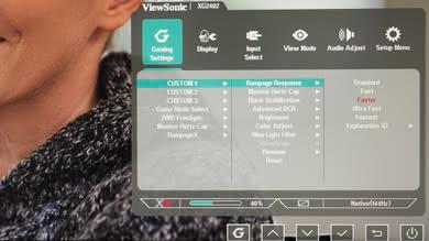 ViewSonic XG2402 OSD picture
