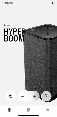 Ultimate Ears HYPERBOOM App Picture