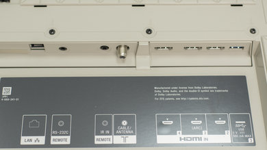 Sony X930E Rear Inputs Picture