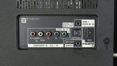 Sony X850E Rear Inputs Picture