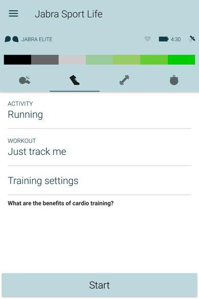 Jabra Elite Sport App Picture