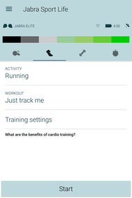 Jabra Elite Sport Truly Wireless App Picture