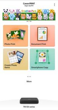 Canon PIXMA TR150 App Printscreen