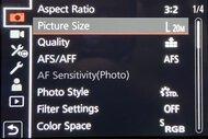 Leica V-Lux 5 Screen Menu Picture
