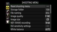 Nikon D5600 Screen Menu Picture