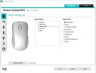 Logitech M570 Software settings screenshot